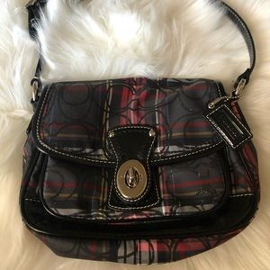 Coach plaid mini purse